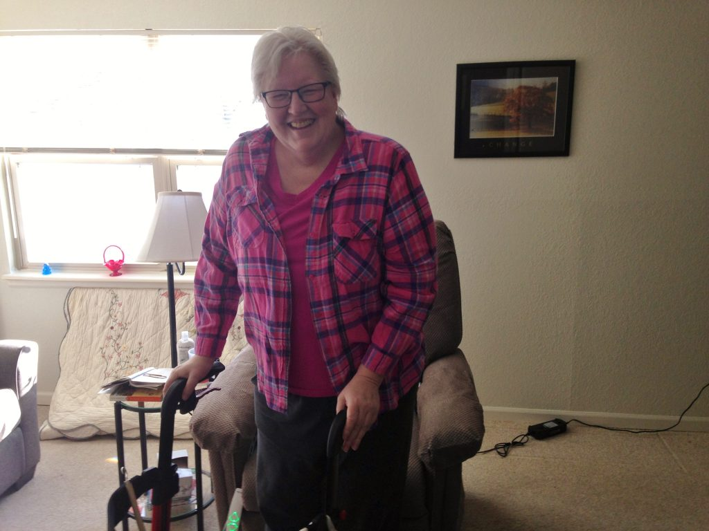 Jane is enjoying her independence after transitioning from a nursing home with the help of MERIL and the Money Follows the Person (MFP) program.