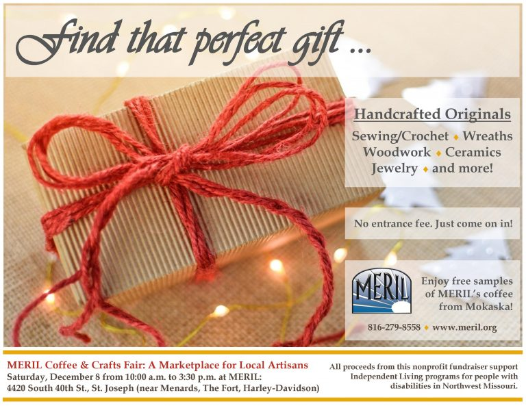 MERIL Coffee and Crafts Fair flyer