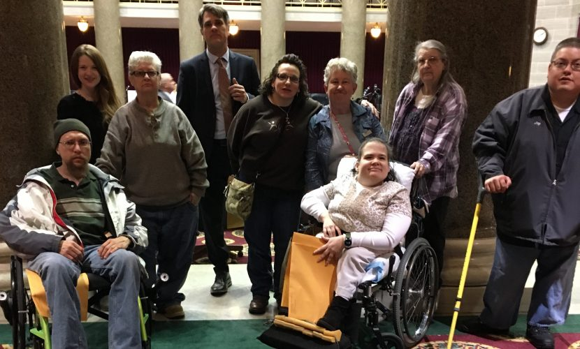 MERIL advocating for disability rights in Jefferson City.