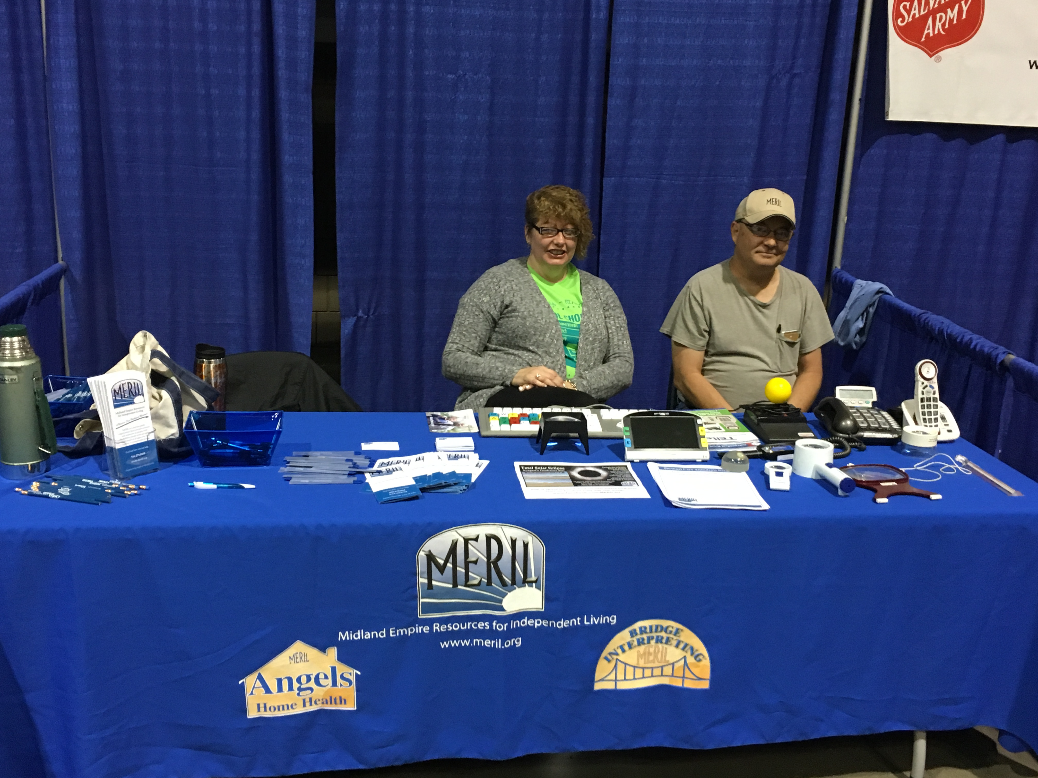 Lisa and Paul at our booth during the Vet 2 Vet event at the Civic Arena. Let's all make sure that veterans with disabilities get the resources they need!