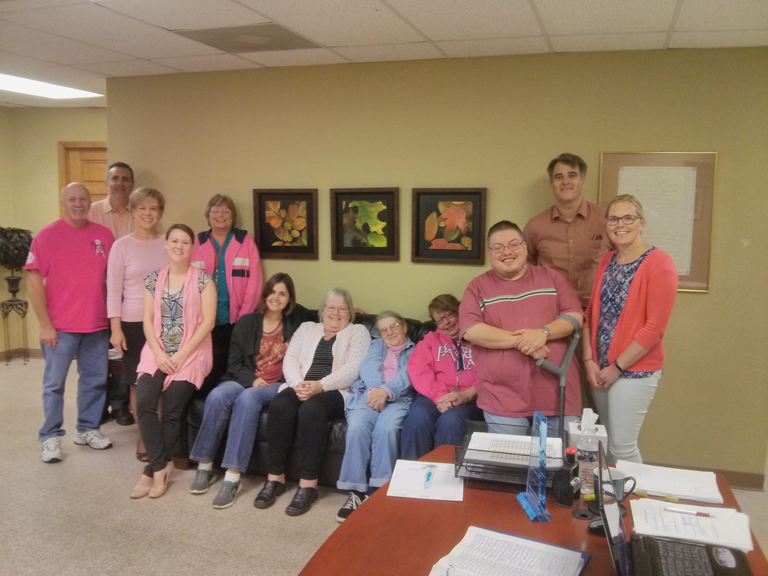 We are wearing pink for Breast Cancer Awareness Month!