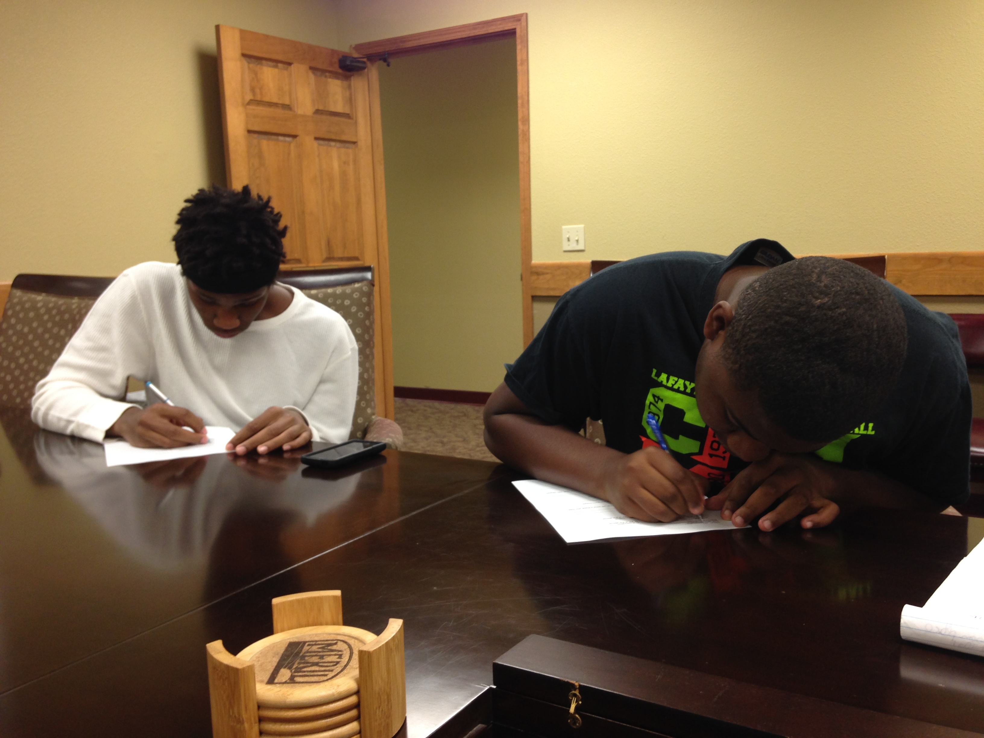 Participants in our youth pre-employment program learn how to prepare for life after school.