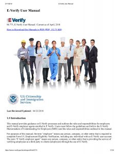 E-Verify User Manual
