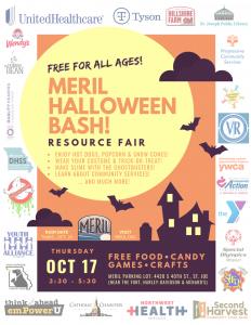 MERIL Halloween Bash! flyer