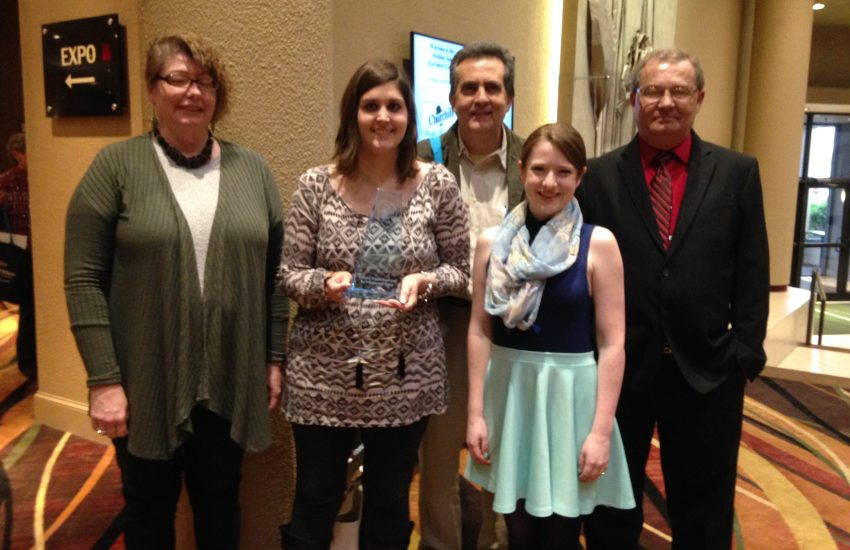 We accepted the Governor's Council on Disability award for website accessibility at the Power Up conference.
